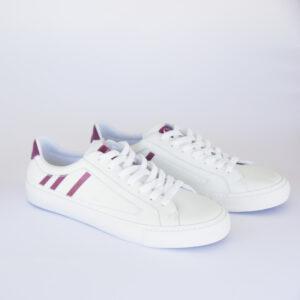 zapatos blancos y lilas en piel para mujeres y hombres hasta la talla 42