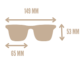 medidas gafas de sol butterfly